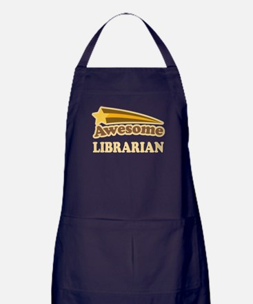 Awesome Librarian Apron (dark)