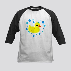 Cute Yellow Rubber Ducky on Water Heart Baseball J