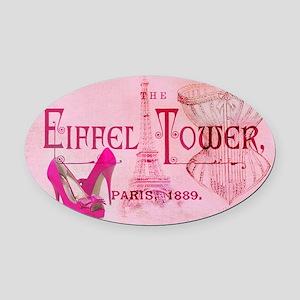 eiffel tower stiletto Oval Car Magnet