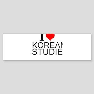 I Love Korean Studies Bumper Sticker