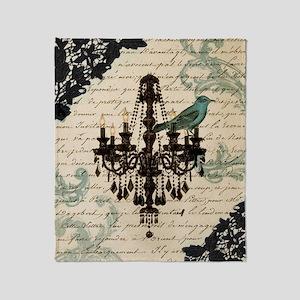 lace chandelier paris fashion Throw Blanket