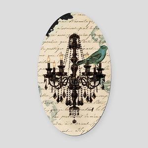 lace chandelier paris fashion Oval Car Magnet