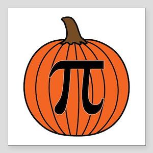 """Pumpkin Pi Square Car Magnet 3"""" x 3"""""""