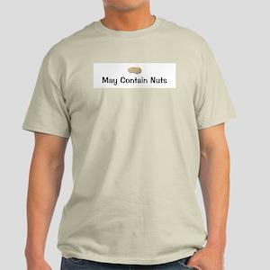 May Contain Nuts Ash Grey T-Shirt