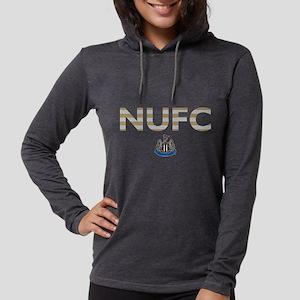 Newcastle United FC stripes Womens Hooded Shirt