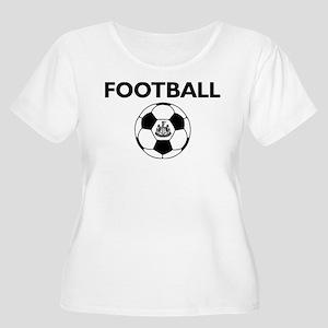 Football Newc Women's Plus Size Scoop Neck T-Shirt