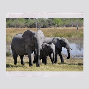 african elephant two Throw Blanket