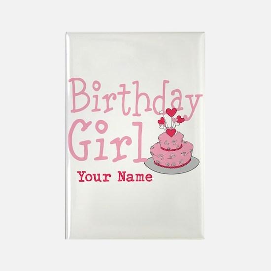 Birthday Girl - Customized Rectangle Magnet