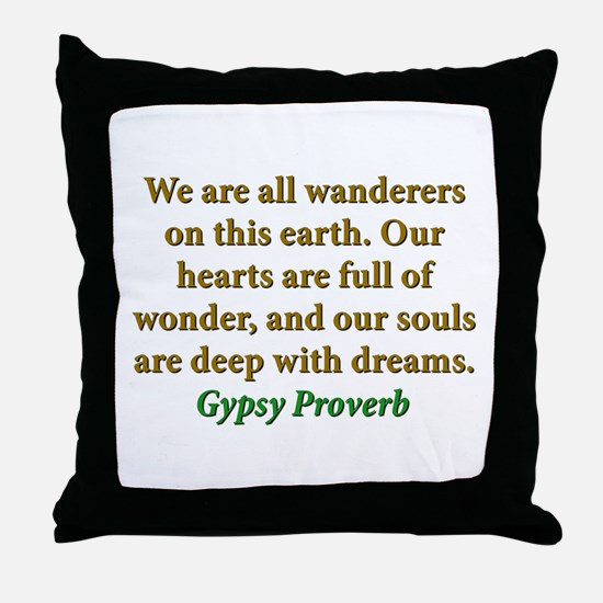 We Are All Wanderers On This Earth Throw Pillow