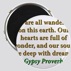 We Are All Wanderers On This Earth Magnet