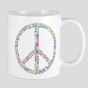 Words of Peace in Sign Mugs