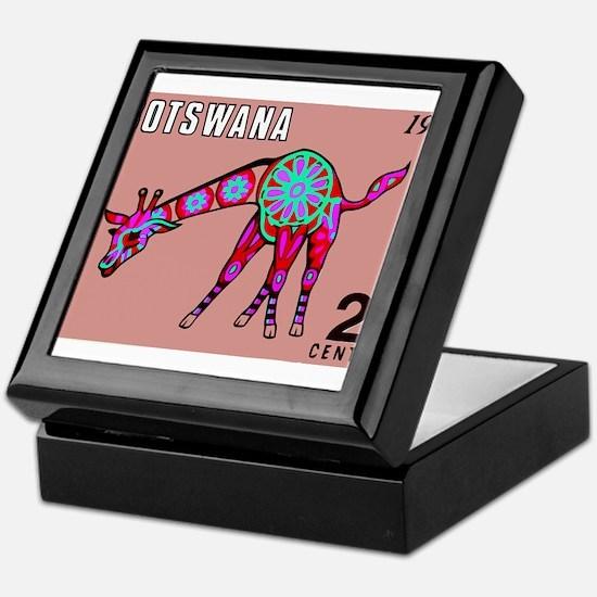 1970 Botswana Giraffe Art Postage Stamp Keepsake B