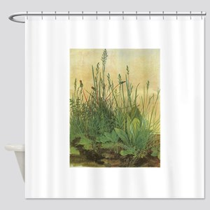 Large Piece of Turf by Albrecht Dur Shower Curtain