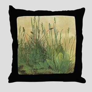 Large Piece of Turf by Albrecht Durer Throw Pillow