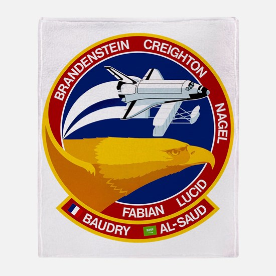 STS-51G Discovery Throw Blanket
