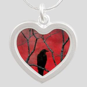 Red Velvet Silver Heart Necklace