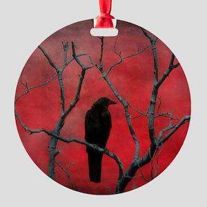 Red Velvet Round Ornament