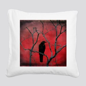 Red Velvet Square Canvas Pillow