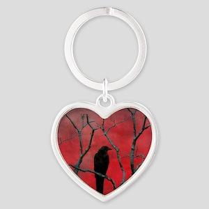 Red Velvet Heart Keychain