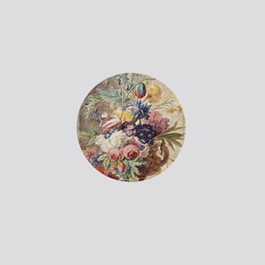 Flower Still Life by Jan van Huysum Mini Button