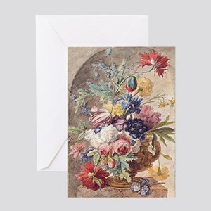 Flower Still Life by Jan van Huysum Greeting Card