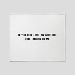 Attitude Talking Throw Blanket