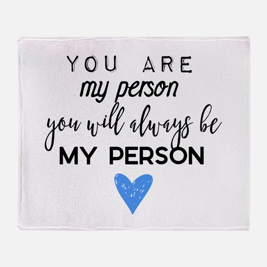 Grey's Anatomy - You are my person Throw Blanket