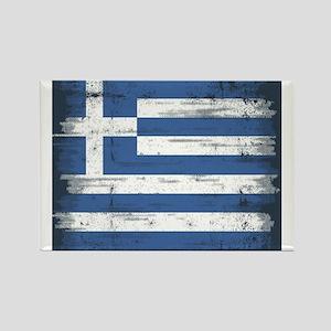 Vintage Greek Flag Rectangle Magnet