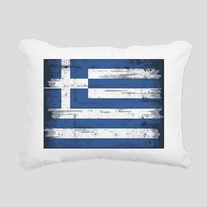 Vintage Greek Flag Rectangular Canvas Pillow