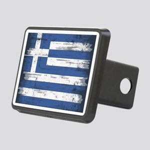 Vintage Greek Flag Rectangular Hitch Cover