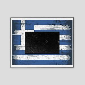 Vintage Greek Flag Picture Frame