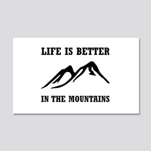 Better In Mountains Wall Decal