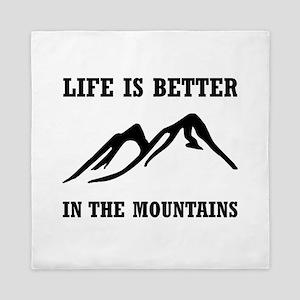 Better In Mountains Queen Duvet