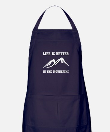 Better In Mountains Apron (dark)