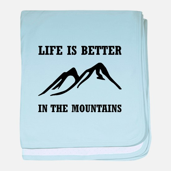 Better In Mountains baby blanket
