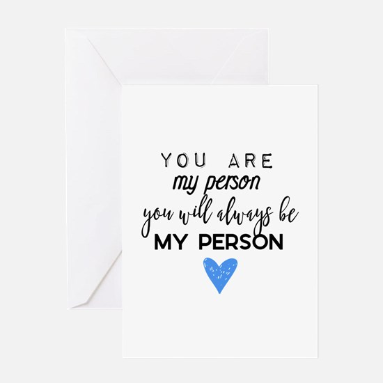 Grey's Anatomy - You are my person Greeting Cards