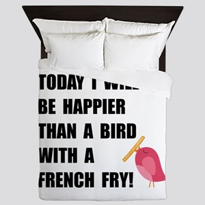 Bird With French Fry Queen Duvet