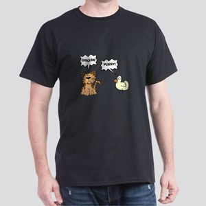 Chicken Cat Black T-Shirt