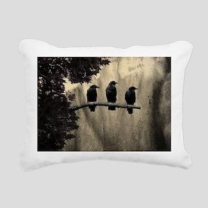 Three On A Branch Rectangular Canvas Pillow