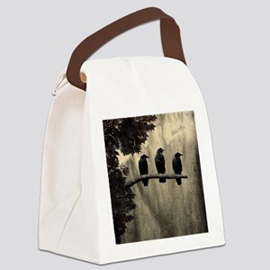 Three On A Branch Canvas Lunch Bag
