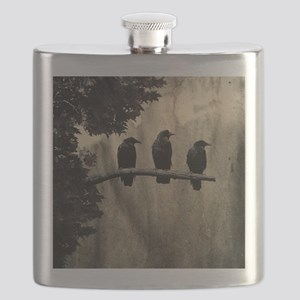 Three On A Branch Flask