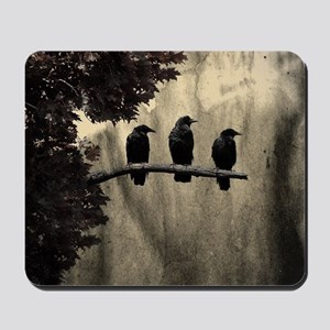 Three On A Branch Mousepad