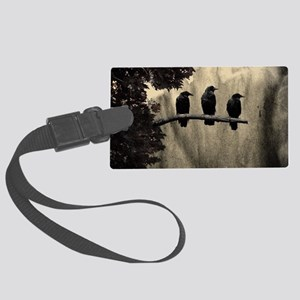 Three On A Branch Large Luggage Tag