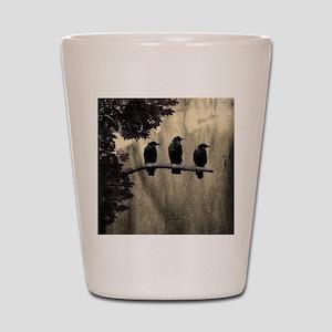 Three On A Branch Shot Glass