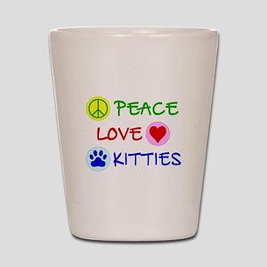 Peace-Love-Kitties Shot Glass