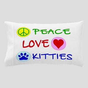 Peace-Love-Kitties Pillow Case