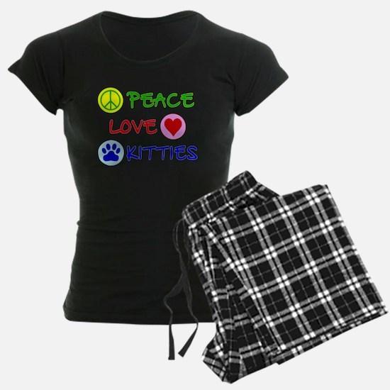 Peace-Love-Kitties Pajamas