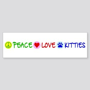 Peace-Love-Kitties Sticker (Bumper)