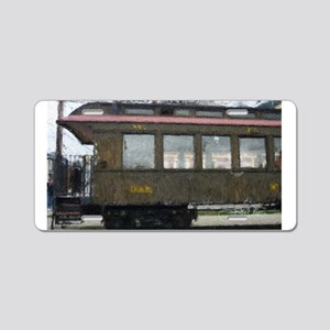 Side Caboose Aluminum License Plate