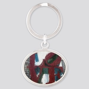 All You Need Is Love Oval Keychain